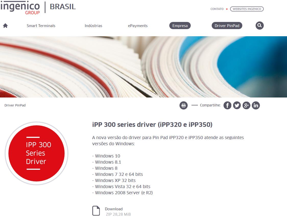 Instalação Pinpad IPP 300 Series (320 e 350) - Pay Hub - Linx Share
