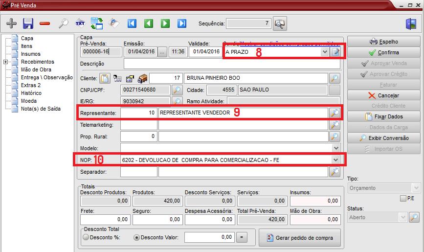 85093c936897 11 - A tela de Itens pode-se incluir os Itens, excluir e ainda alterar.
