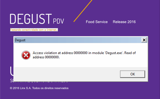 Sistema trava após testar conectividade - Access Violation